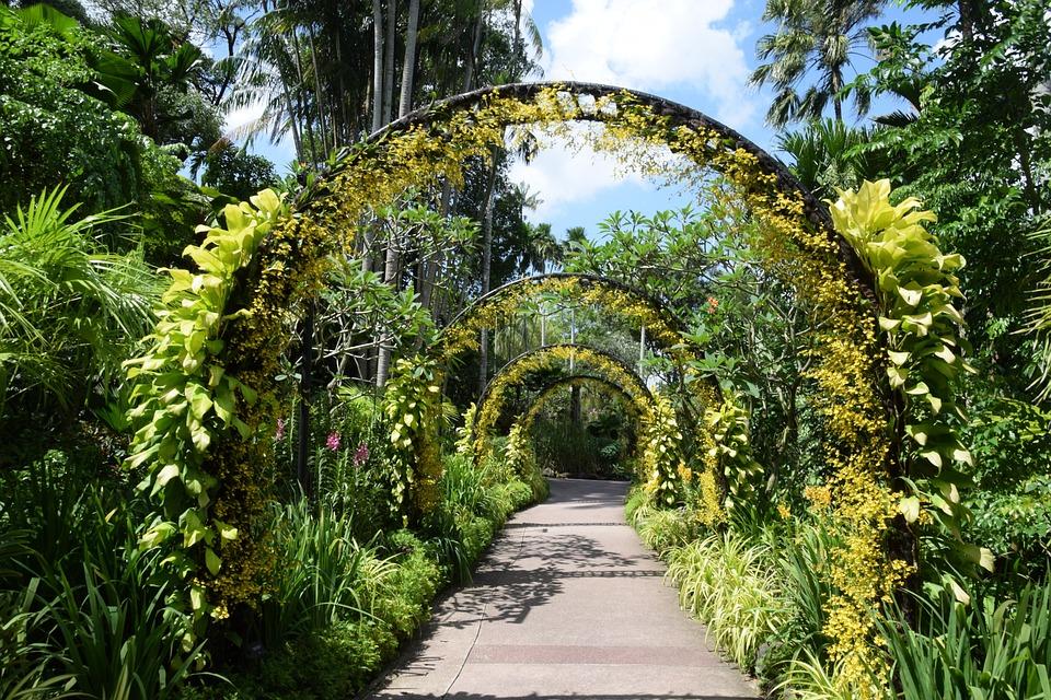 Singapore, Botanical Garden, Orchard Flower Arch