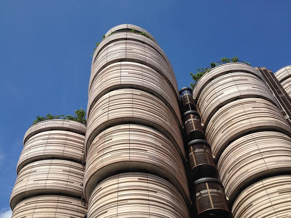 Singapore, Building, University, Sky, Rooftop Gardens