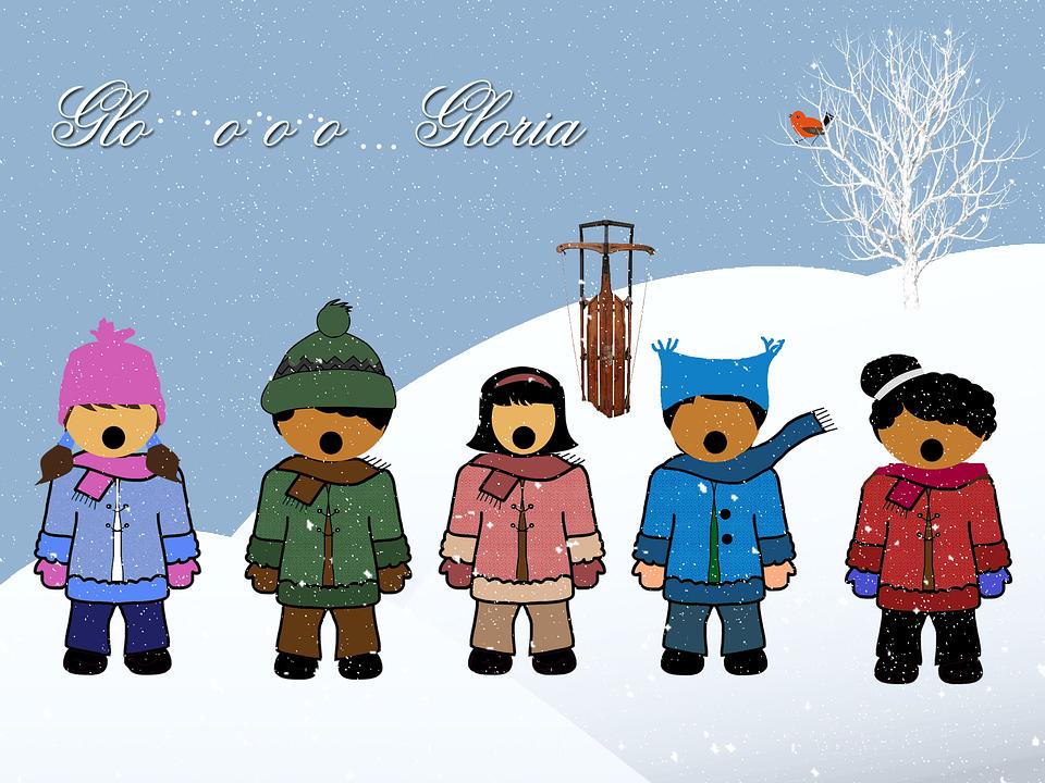 Children, Singers, Vocals, Christmas, Snow, Winter