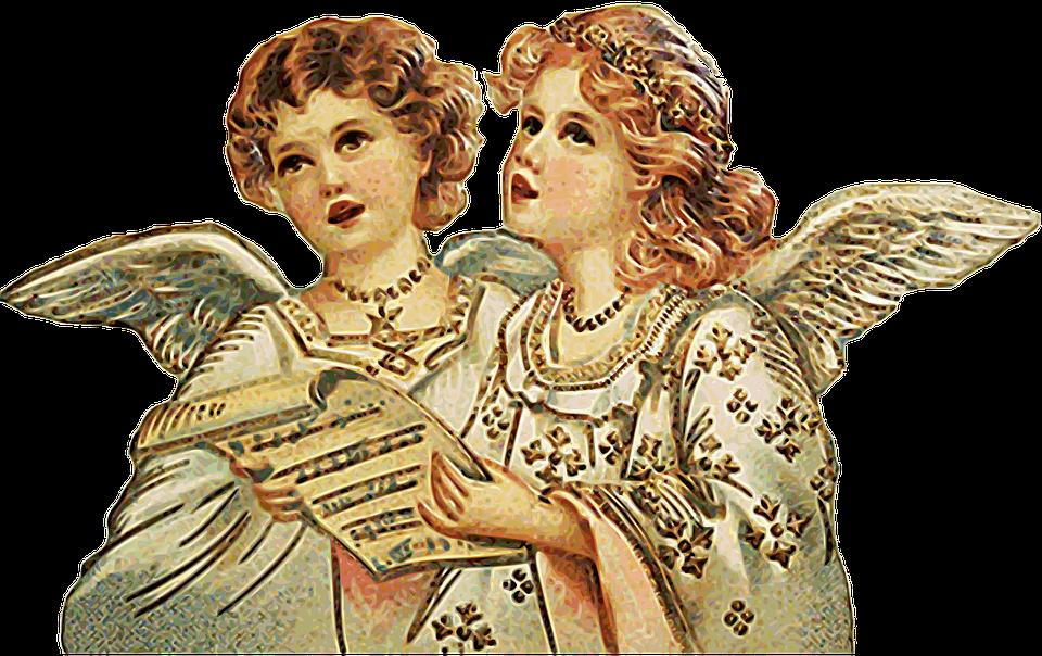 Angel, Singing, Choral, Christmas