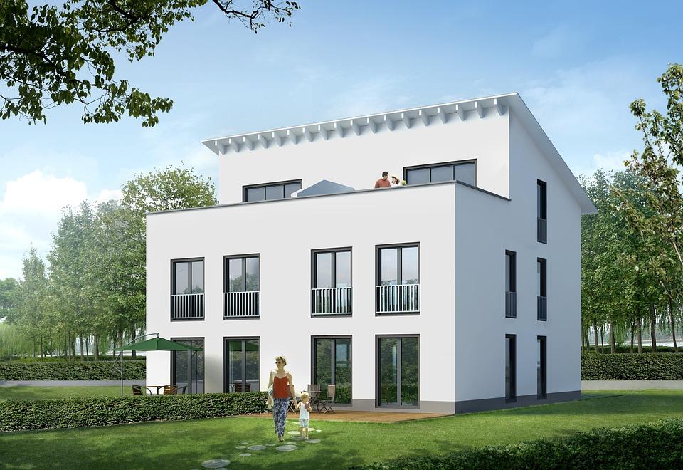 Single Family Home, Villa, Rendering, Visualization
