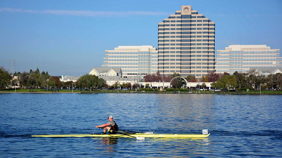 Foster City, Rowing, Single Scull, Lake, Competition