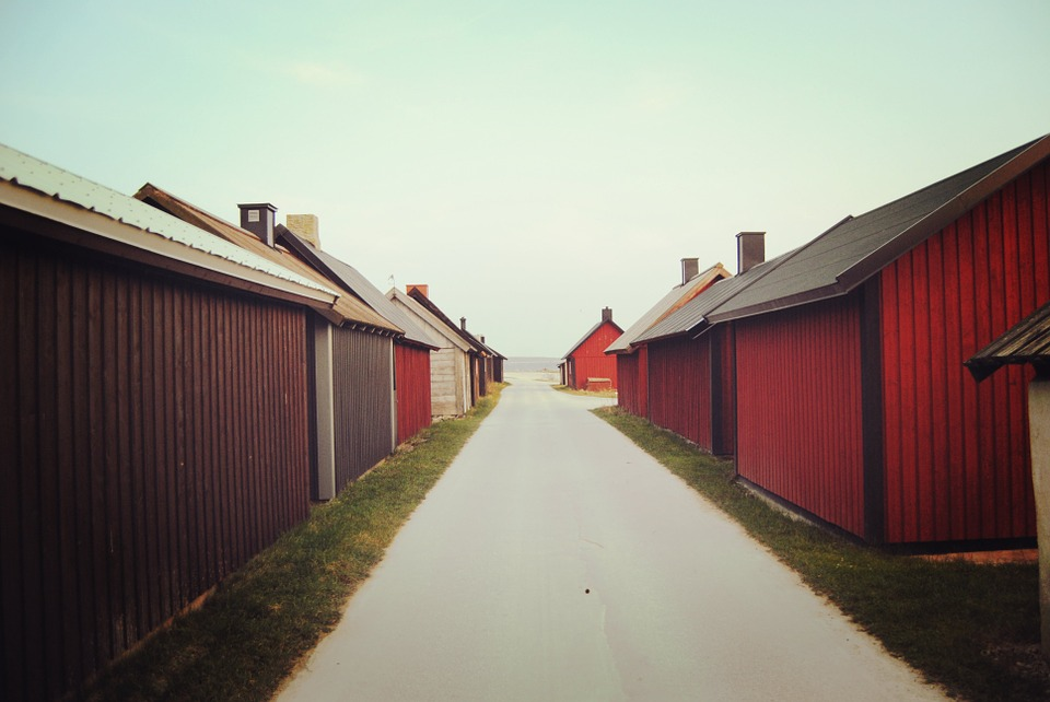 House, Fishing Village, Red House, Single-family Homes