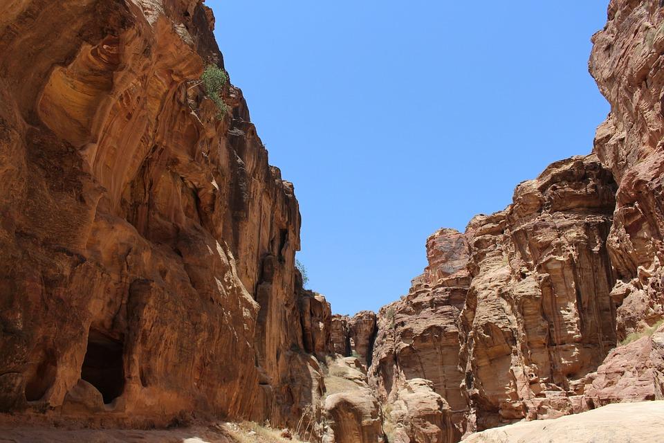 Jordan, Petra, Siq, Desert, Stone, Archeology, History