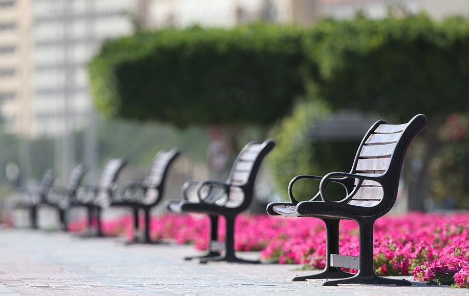 Bench, Seat, Social, Distance, Park, Sit, Empty