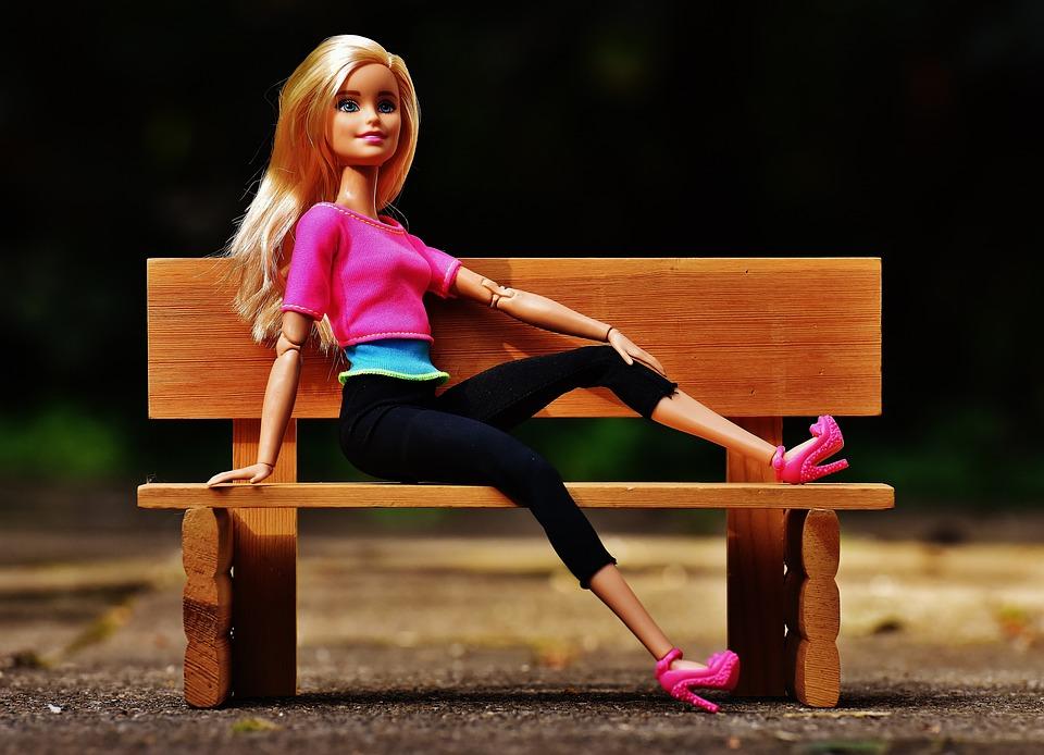 Beauty, Barbie, Bank, Sit, Pretty, Doll, Charming