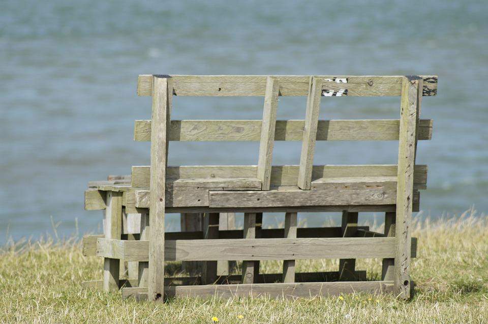 Bank, Sit, Sea, Garden Bench, Benches, Old