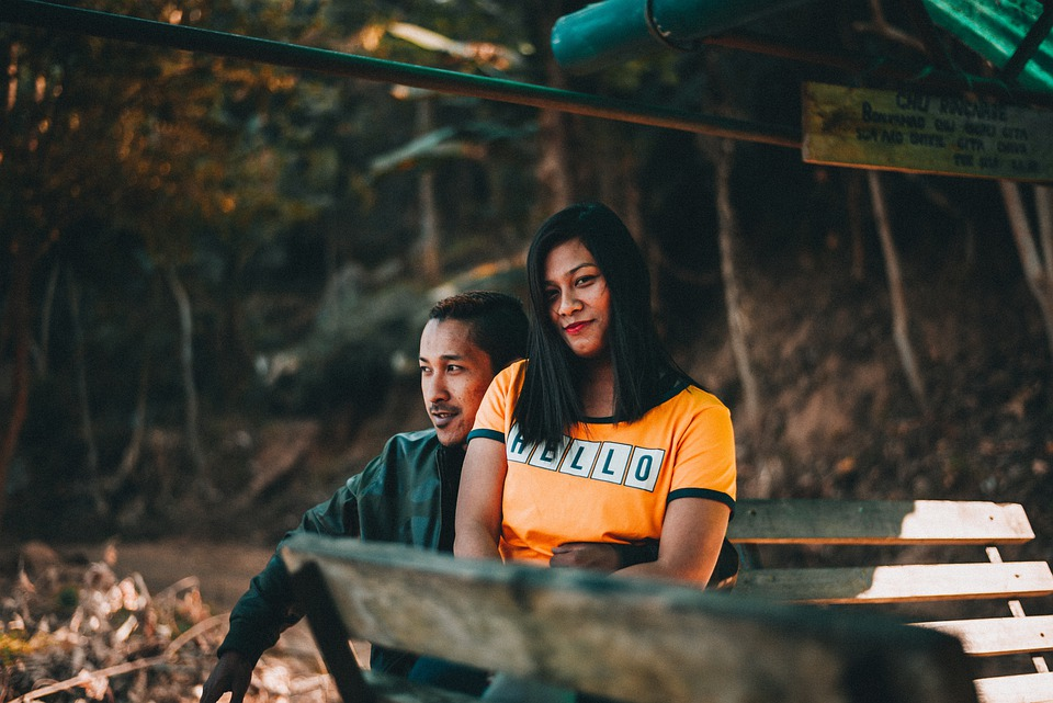 Couple, Married, Romantic, Together, Sit, Lap, Happy
