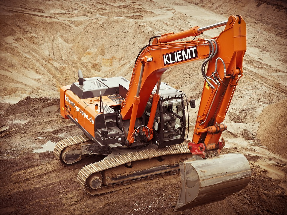 Excavators, Construction, Site, Build
