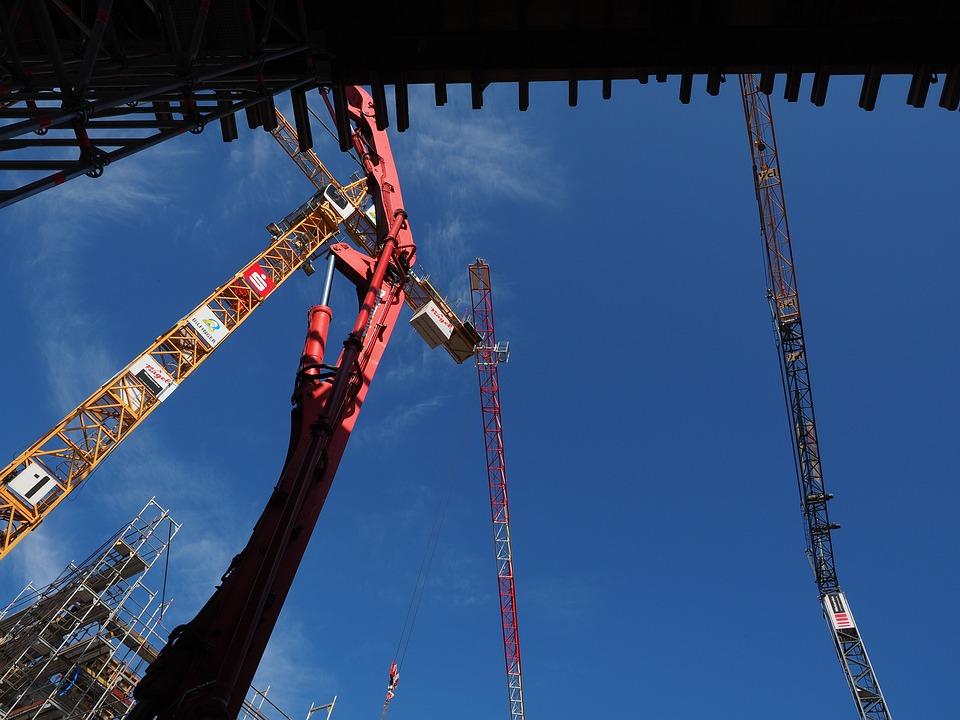 Site, Construction Cranes, Cranes, Construction Work