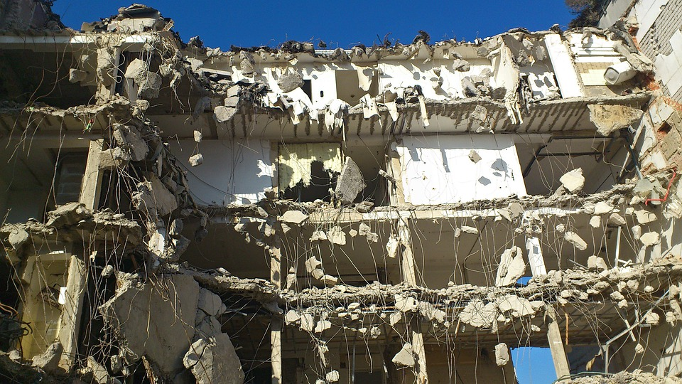 Crash, Demolition, Site, Home, Floors, Composition