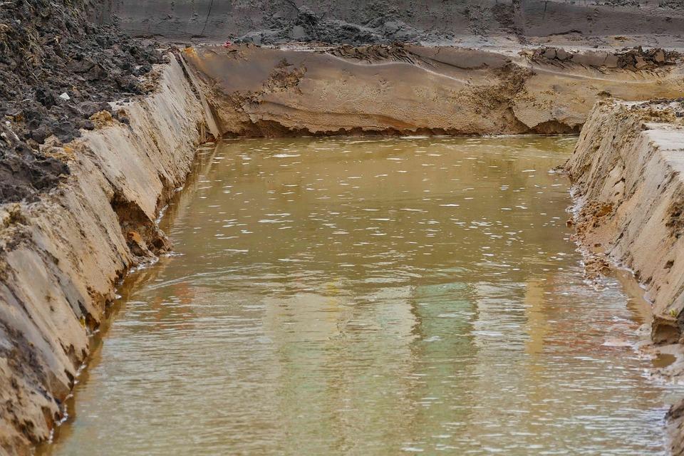 Site, Pit, Ground Water, Construction Work