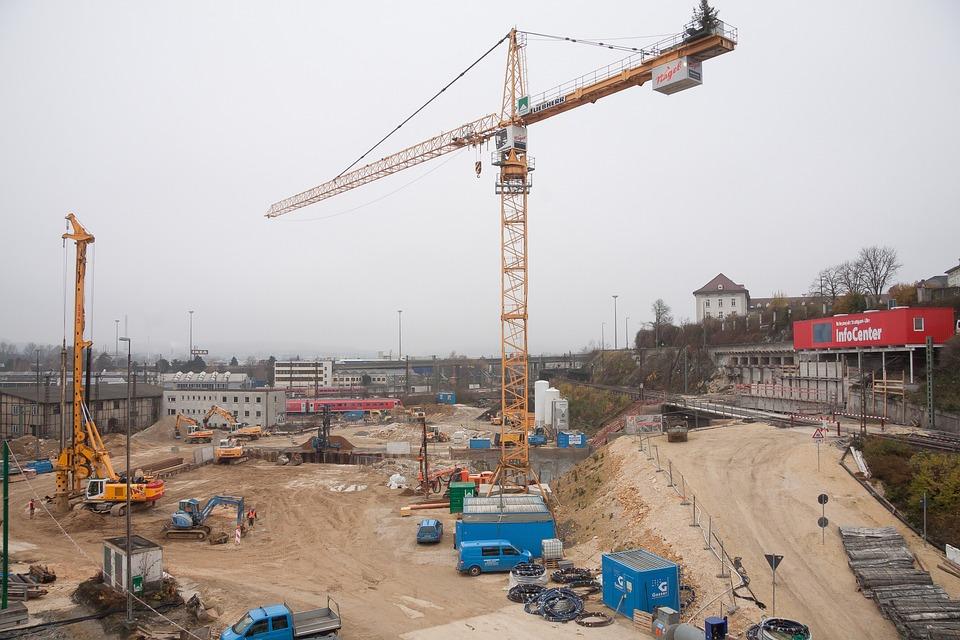 Site, Crane, Baukran, Construction Work, Technology