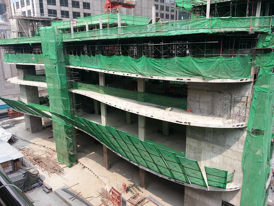 Construction, Building, Site View, Parking Space