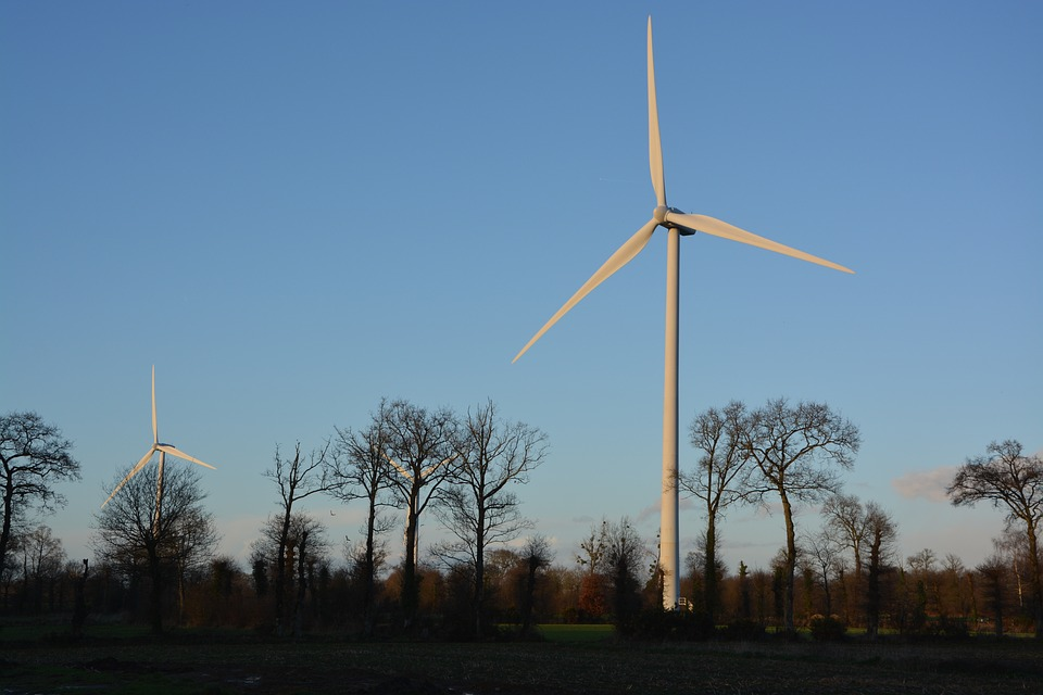 Wind Turbines, Site, Electricity Produced With The Wind