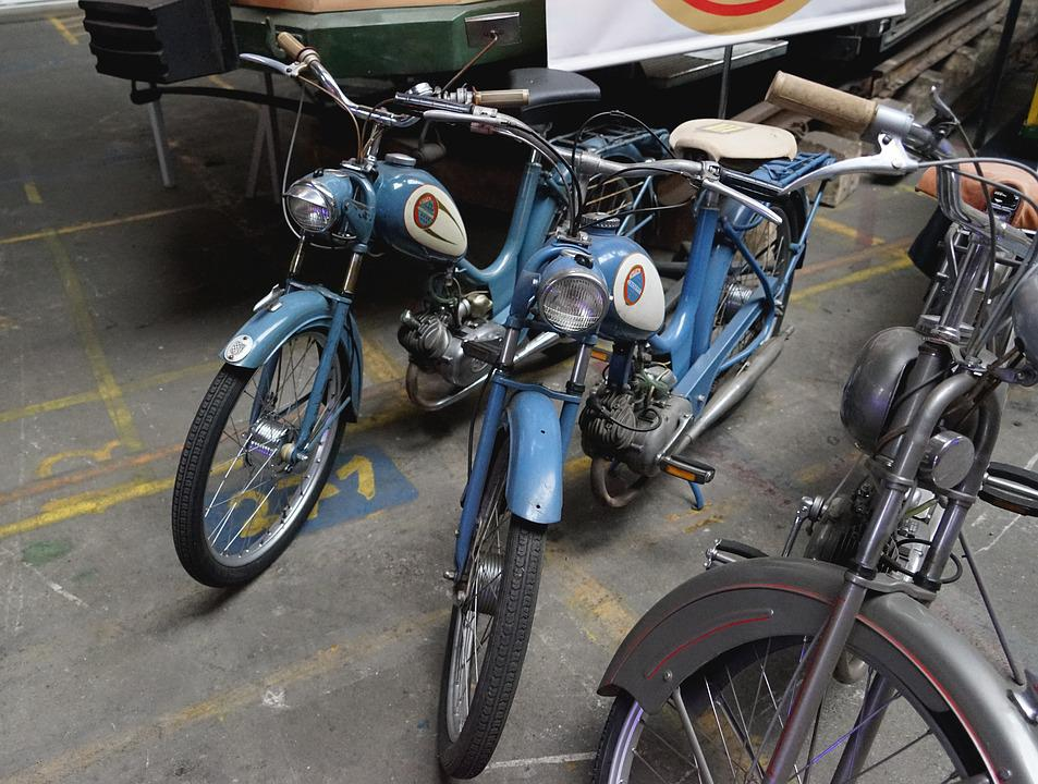 Moped, Old, Blue, Sitta, Museum, Oldtimer