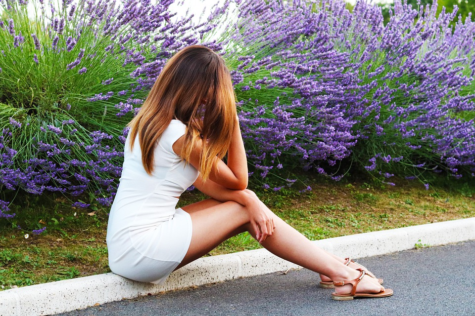 Woman, Model, Sitting, Dress, Casual, Outfit, Sandals