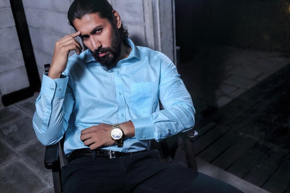 Man, Model, Fashion, Thinking, Sitting, Modern, Bearded