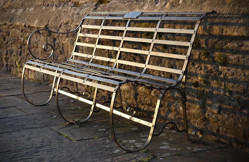 Bench, Metal, Old, Outdoor, Furniture, Seat, Sitting