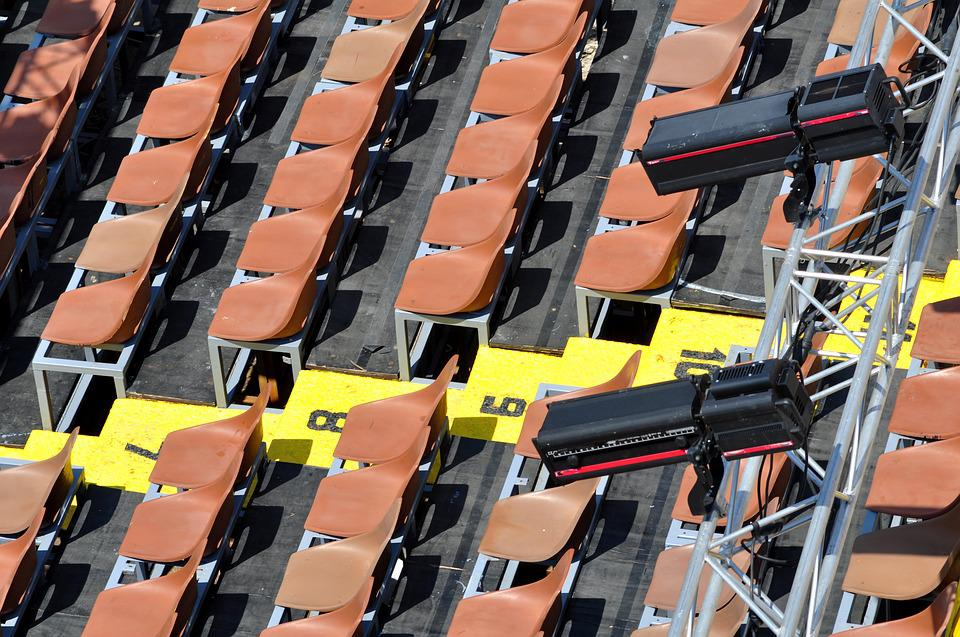 Grandstand, Sítze, Sit, Chairs, Theater, Viewers