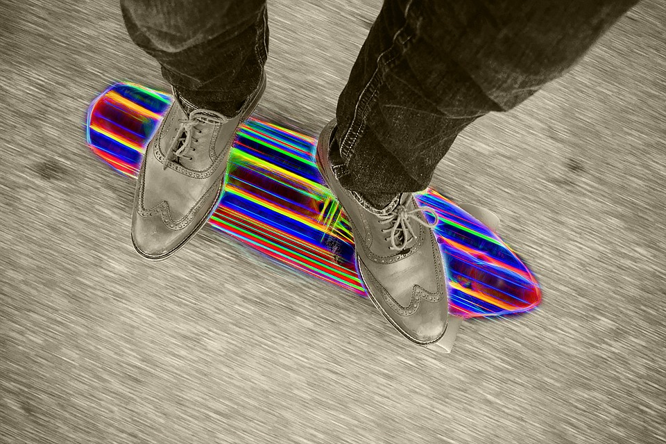 Skateboard, Colorful, Glow, Skate, Sport, Skateboarder