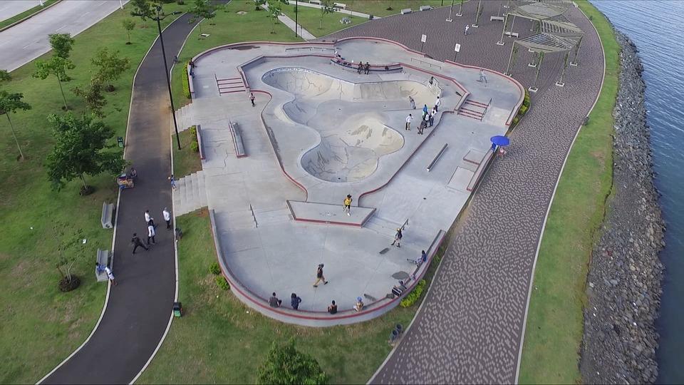 Skate, Skate Park, Areal View, Skate Board, Prototype