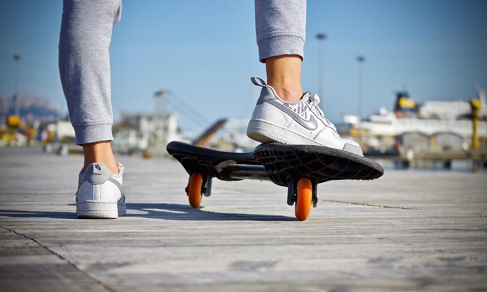 Skateboard, Feet, Shoes, Guy, Skating, Active, Wheels