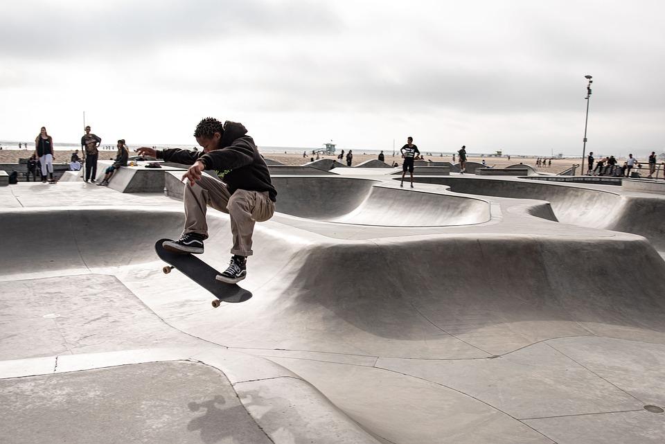 La, Skatepark, Skating, Skateboarding, Jump, Skate