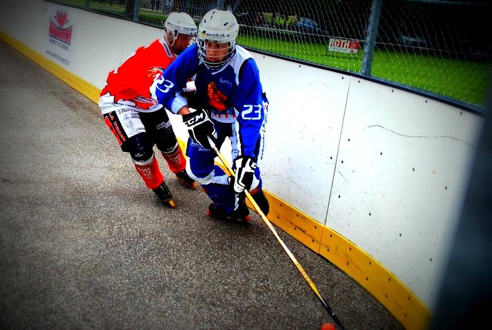 Hockey, Duel, Play, Inline Hockey, Skater Hockey