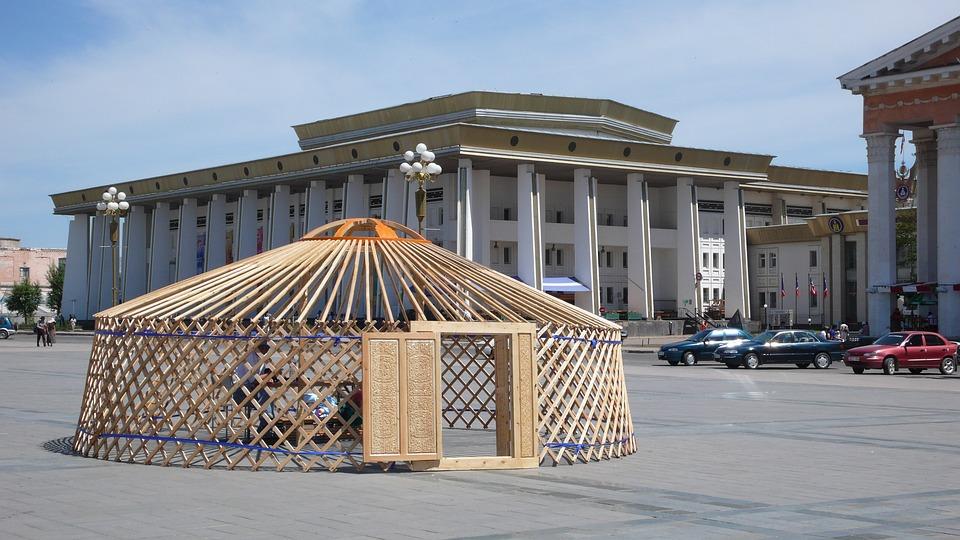 Mongolia, Ulaanbaatar, Skeleton Geru