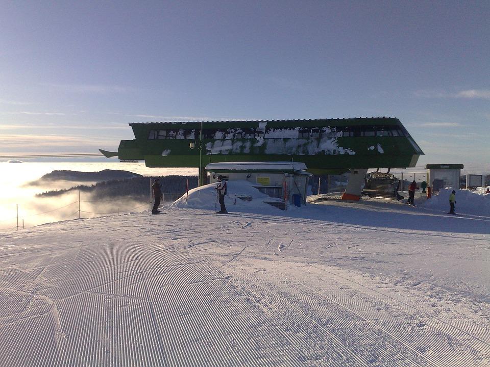 Winter, Ski Run, Snow, Mountain