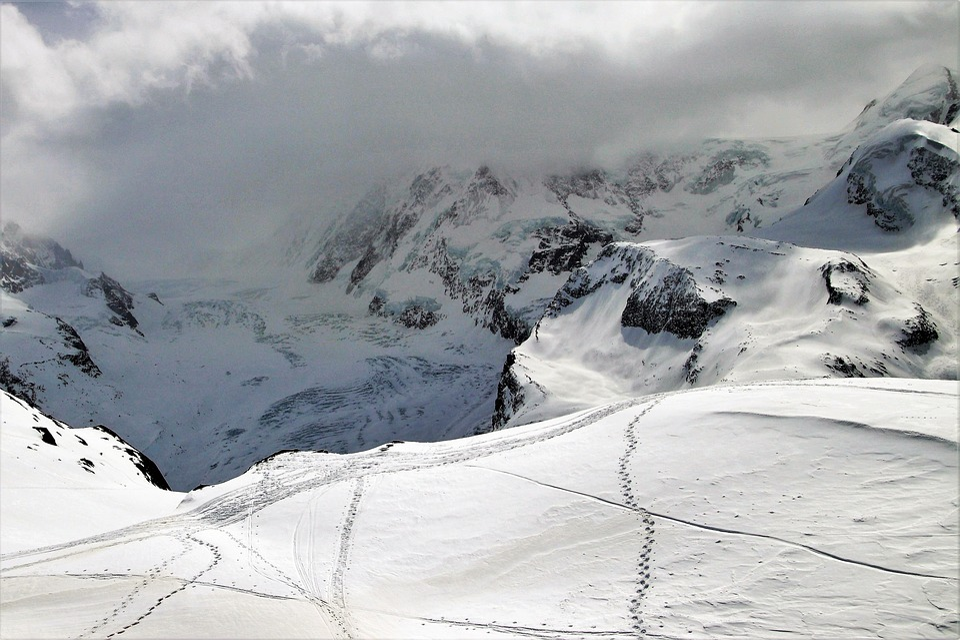 Ski, Ski Slope, Zermatt, Snow, Winter, The Alps, Cloudy