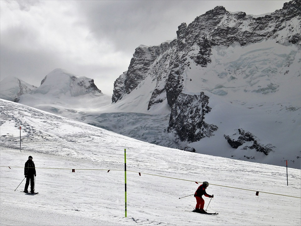 Ski, Zermatt, Skiers, Snow, Winter, Mountain, Ice, Cold