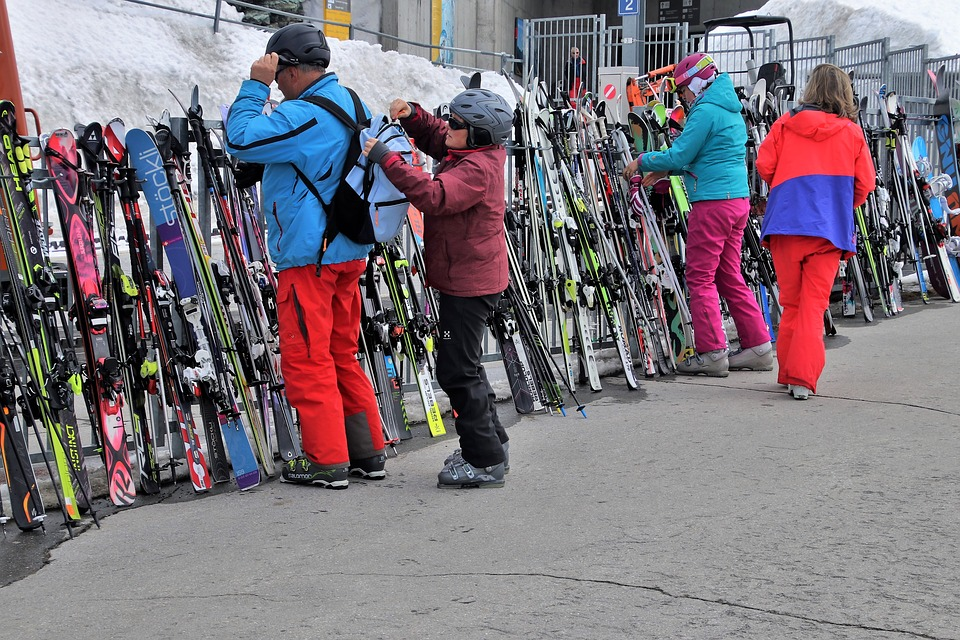 Ski, Skis, Skiers, Zermatt, Switzerland, Sport