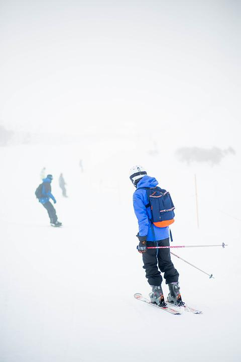 Action, Cold, Foggy, Ice, People, Skier, Skiing, Snow