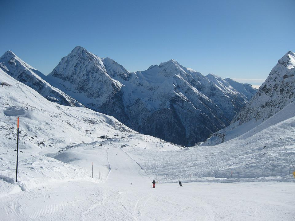 Alps, Winter, Snow, Skiing, The Ski Slope