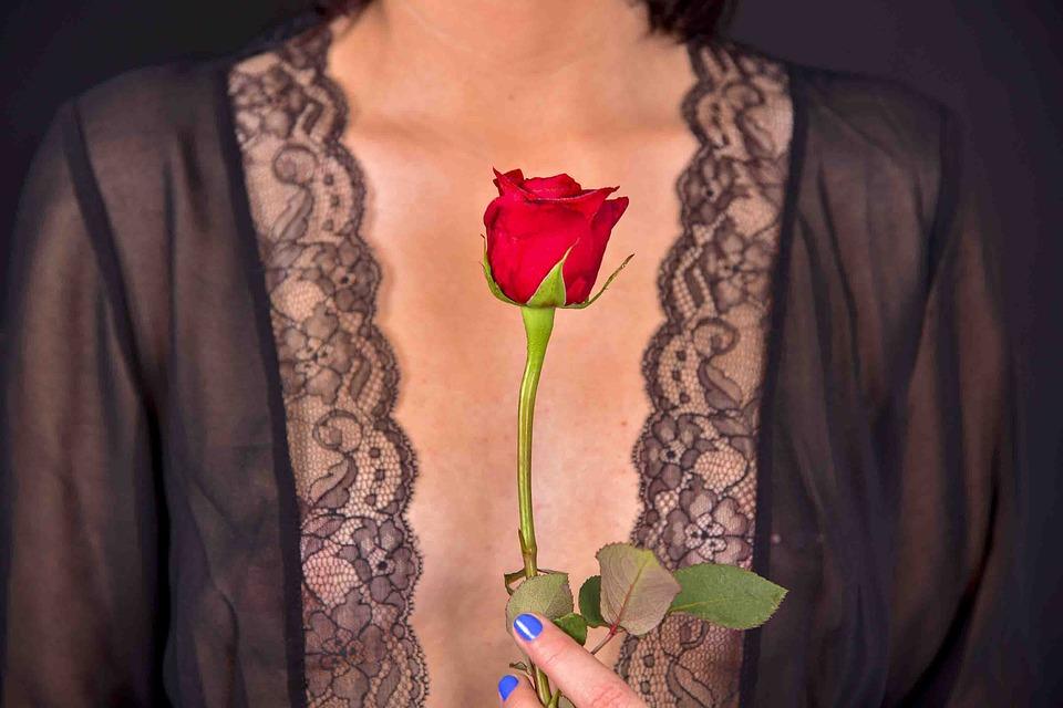 Woman, Body, Flower, Rose, Nude, Skin, Beauty, Art