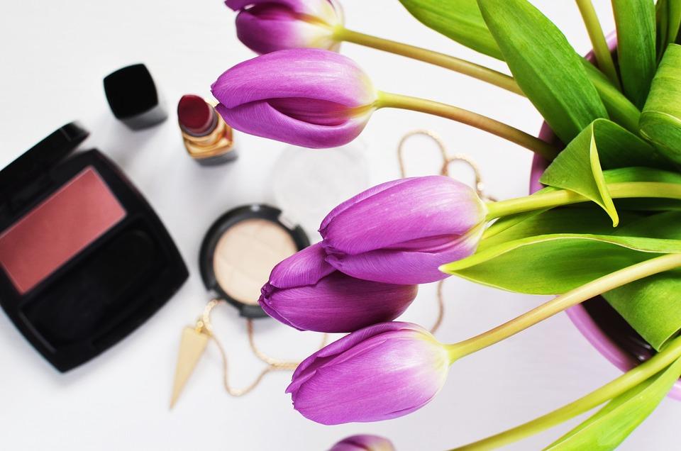Beauty, Cosmetics, Flowers, Make-up, Skincare, Glamour