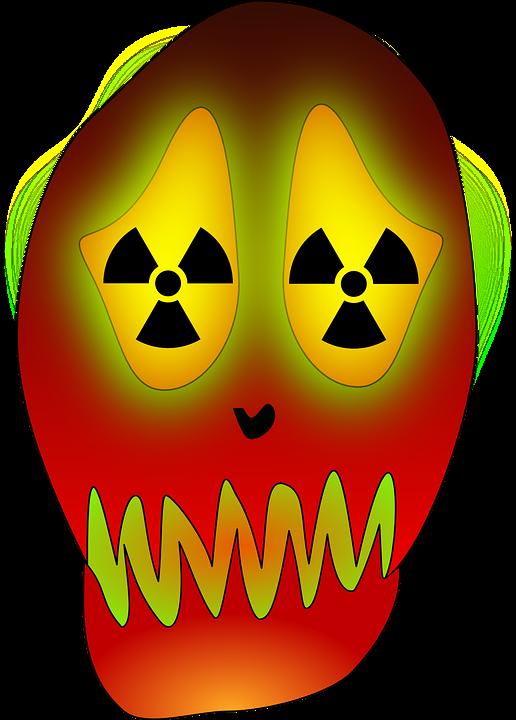 Skull, Atom, Energy, Nuclear, Power, Radioactive