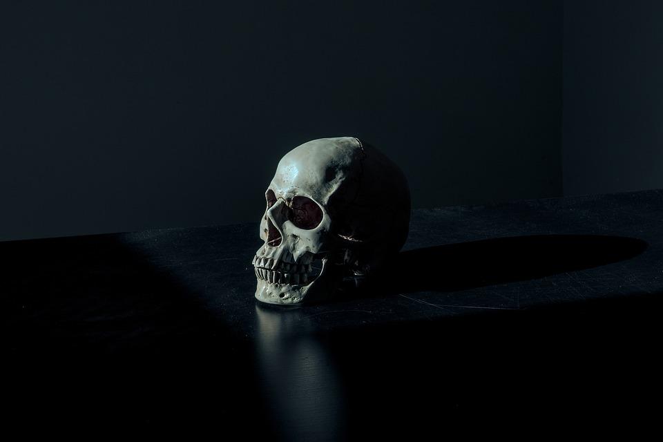 Creepy, Dark, Eerie, Scary, Skull
