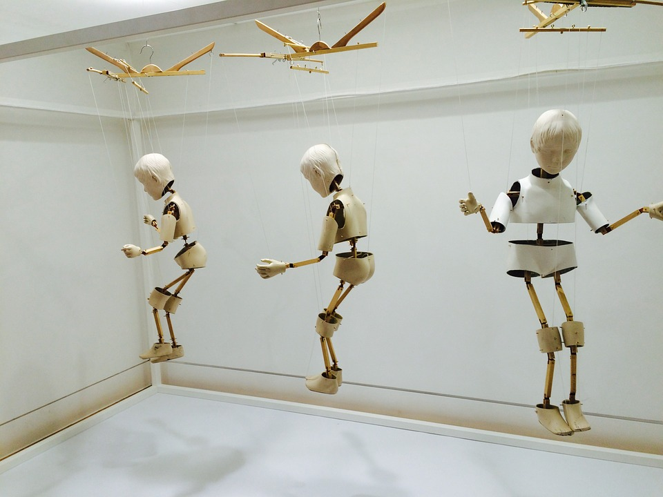 Skull, Robot, Doll, Exhibition, Wood Doll
