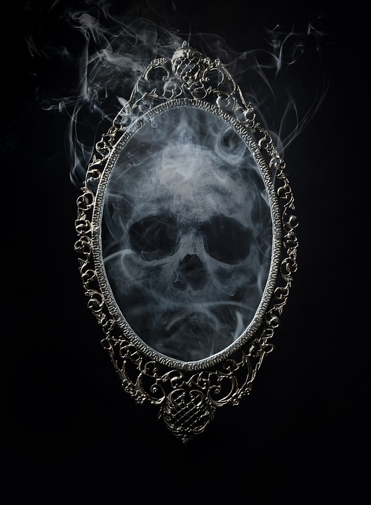 Skull, Mirror, Horror, Scary, Halloween, Fantasy