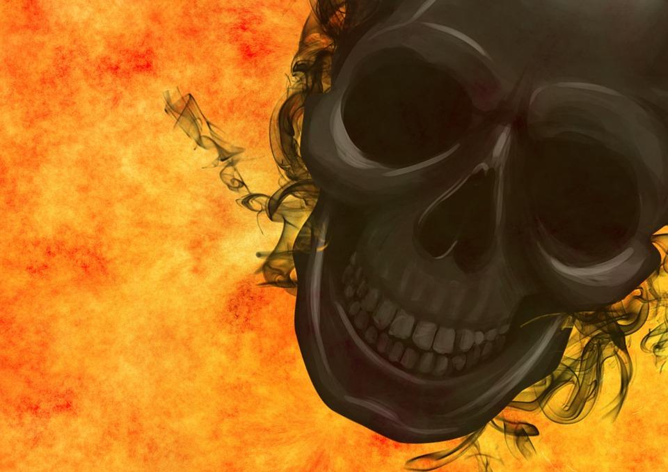 Skull And Crossbones, Weird, Surreal, Skull, Horror