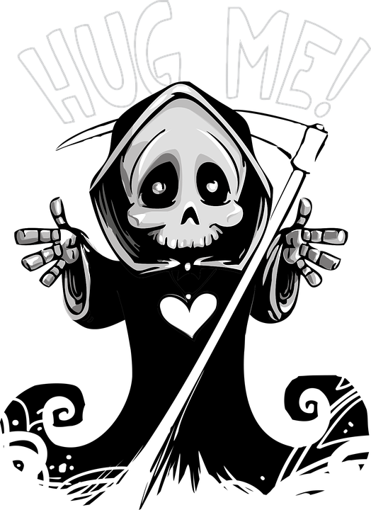 Death, Cute, Mascot, Grim, Reaper, Grave, Skull, Spooky