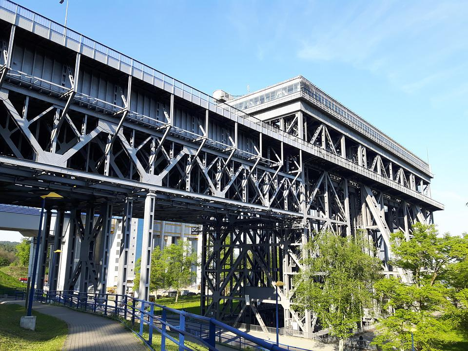 Architecture, Bridge, Travel, Sky, Boat Lift