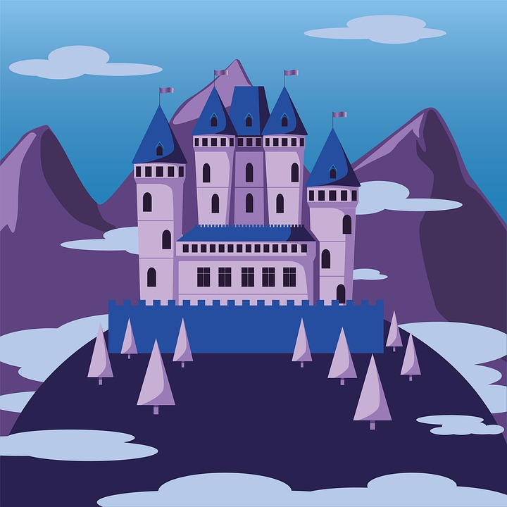 Castle, Mountains, Tower, Sky, Architecture, Fortress