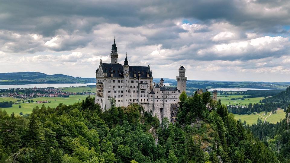 Architecture, Neuschwanstein, Palace, Sky, Tower