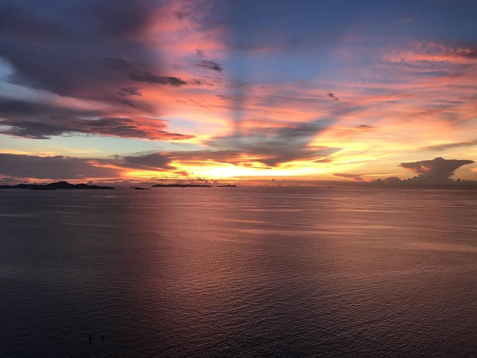 Sunset, Sun, Sky, Mood, Atmospheric, Afterglow, Rest