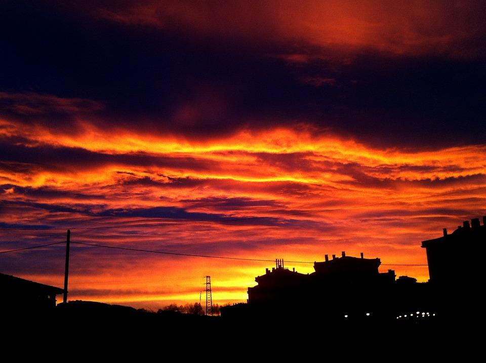 Sky, Dawning Sky, Beautiful Sunrise, Autumn Dawn