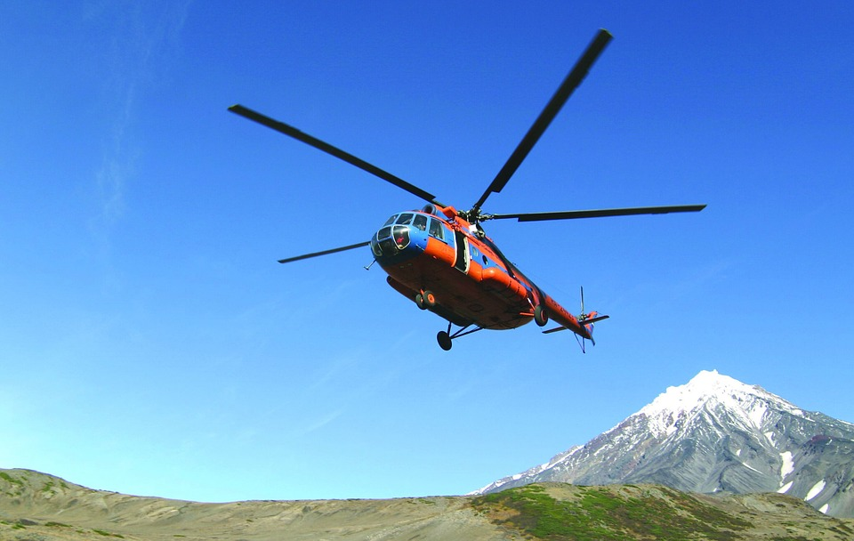 Helicopter, Sky, Aviation